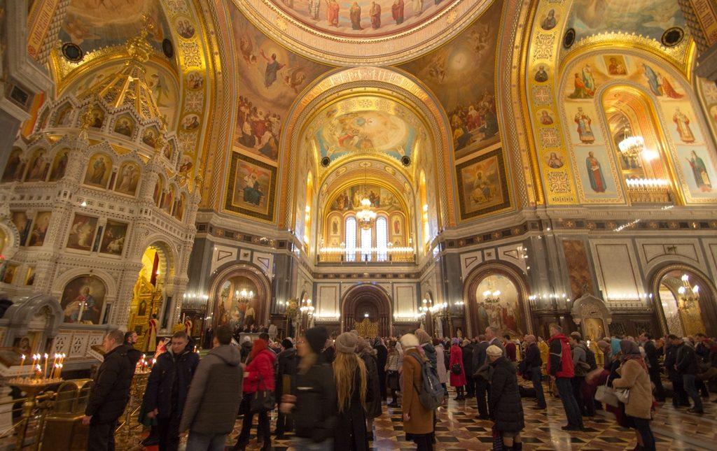 Награждение горняков в Храме Христа Спасителя